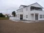 Granit fliser og granit trapper på flot villa i Risskov samt græsplæne og færdig bøge hæk